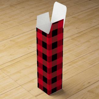 Buffalo plaid wine boxes
