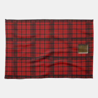 Buffalo Plaid with Maple Leaf ButtonAmerican MoJo  Towels