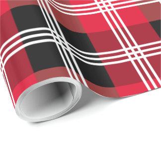 Buffalo plaid wrapping paper