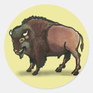 Buffalo Round Sticker