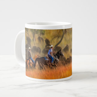 Buffalo Roundup Large Coffee Mug