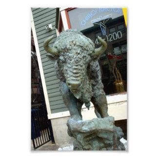 Buffalo Sculpture Outside Buffalo NY Business Art Photo