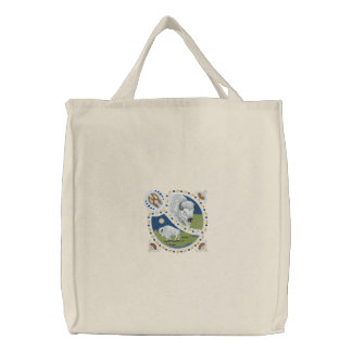 Buffalo Shield Embroidered Tote Bag