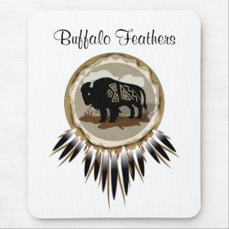 Buffalo Shoe Top, Buffalo Feathers Mouse Pad