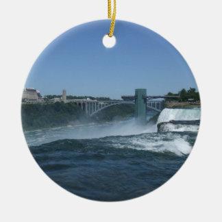 Buffalo side of Niagara Falls Christmas Ornament