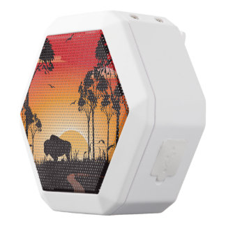 Buffalo silhouette white boombot rex bluetooth speaker