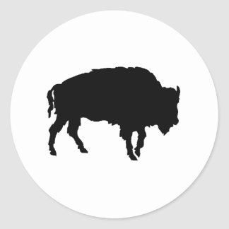 Buffalo Silhouette Classic Round Sticker