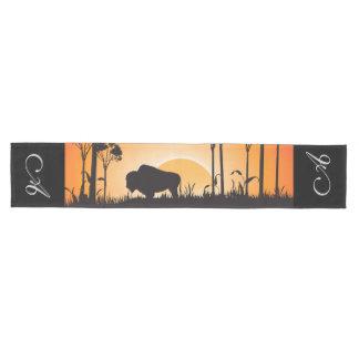 Buffalo silhouette medium table runner