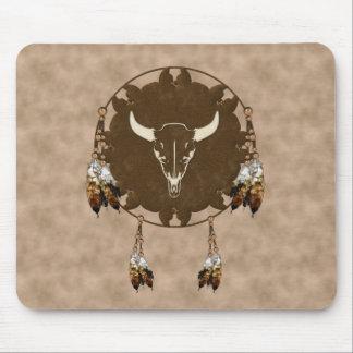 Buffalo Skull Dream Catcher Mouse Pad