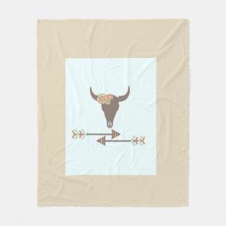 Buffalo Skull Fleece Blanket