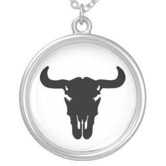 Buffalo skull custom necklace