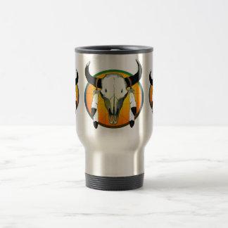 buffalo skull stainless steel travel mug