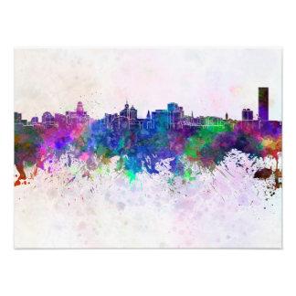 Buffalo skyline in watercolor background