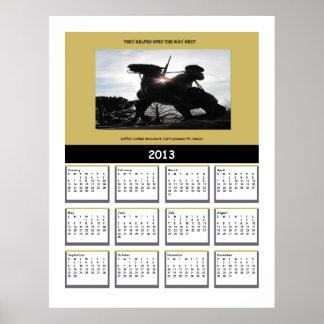 Buffalo Soldier 2013 Calendar Poster