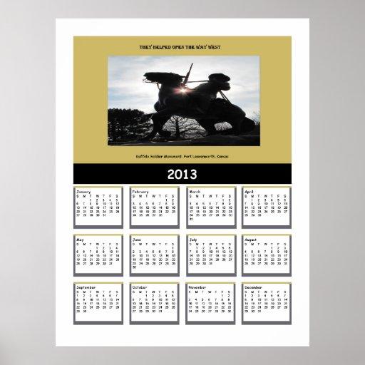 Buffalo Soldier 2013 Calendar Print