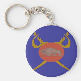 Buffalo Soldier Badge Basic Round Button Key Ring