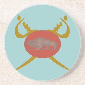 Buffalo Soldier Badge Coaster