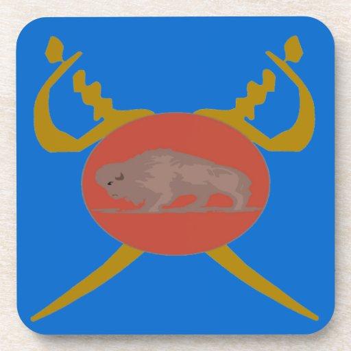 Buffalo Soldier Badge Beverage Coasters