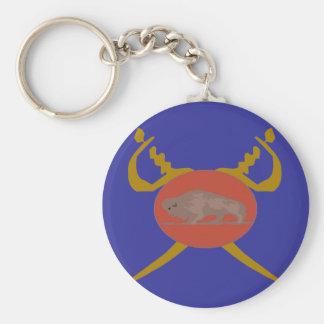 Buffalo Soldier Badge Key Ring