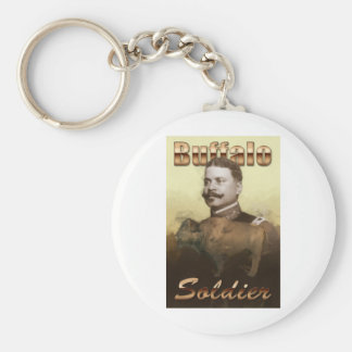 Buffalo Soldier Basic Round Button Key Ring