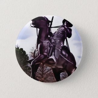 Buffalo Soldier Monument. 6 Cm Round Badge