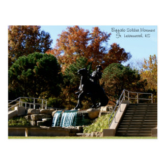 Buffalo Soldier MonumentFt. Leavenwor... Postcard