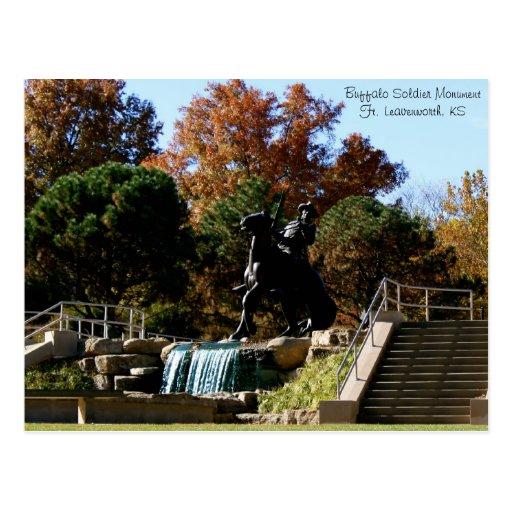 Buffalo Soldier MonumentFt. Leavenwor... Post Card