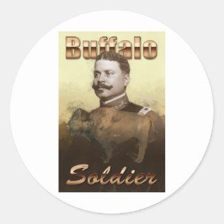 Buffalo Soldier Round Sticker