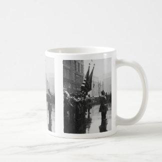 """""""Buffalo"""" Soldiers Returning Colors - 1919 Basic White Mug"""