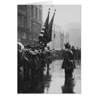 """Buffalo"" Soldiers Returning Colors - 1919 Note Card"