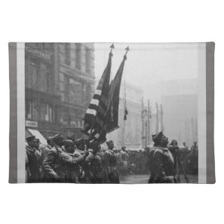 """""""Buffalo"""" Soldiers Returning Colors - 1919 Placemats"""