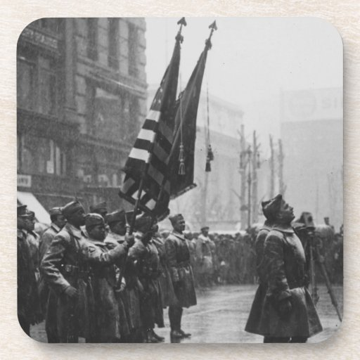 """""""Buffalo"""" Soldiers Returning Colors - 1919 Beverage Coasters"""
