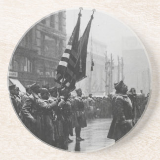 """""""Buffalo"""" Soldiers Returning Colors - 1919 Drink Coasters"""
