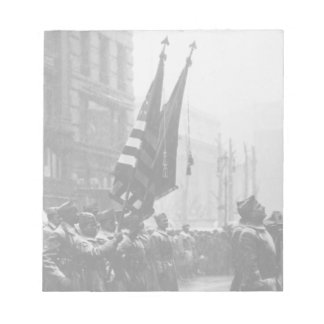 """Buffalo"" Soldiers Returning Colors - 1919 Memo Notepad"