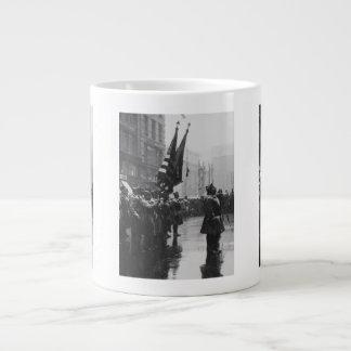 """Buffalo"" Soldiers Returning Colors - 1919 20 Oz Large Ceramic Coffee Mug"