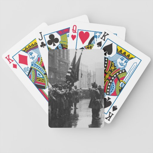 """""""Buffalo"""" Soldiers Returning Colors - 1919 Playing Cards"""