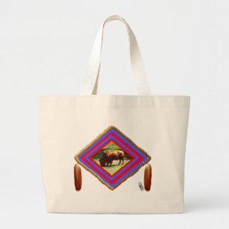 Buffalo spirit large tote bag