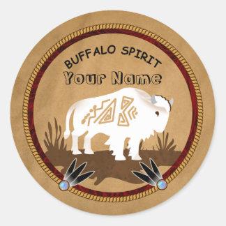 Buffalo Spirit Round Sticker