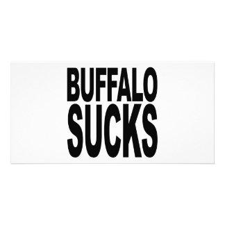 Buffalo Sucks Customized Photo Card