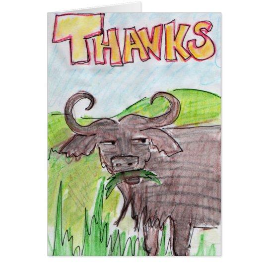Buffalo Thankyou Card