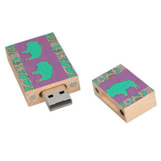 Buffalo trail wood USB flash drive