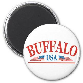 Buffalo USA 6 Cm Round Magnet