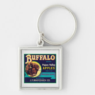 Buffalo Vintage Apples Label Keychains