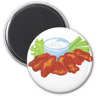 Buffalo Wings 6 Cm Round Magnet