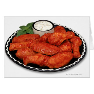 Buffalo wings with blue cheese card