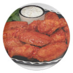 Buffalo wings with blue cheese dinner plates