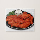 Buffalo wings with blue cheese jigsaw puzzle
