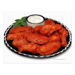 Buffalo wings with blue cheese post cards