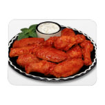 Buffalo wings with blue cheese rectangular photo magnet