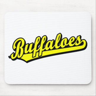 Buffaloes in Yellow Mouse Pad